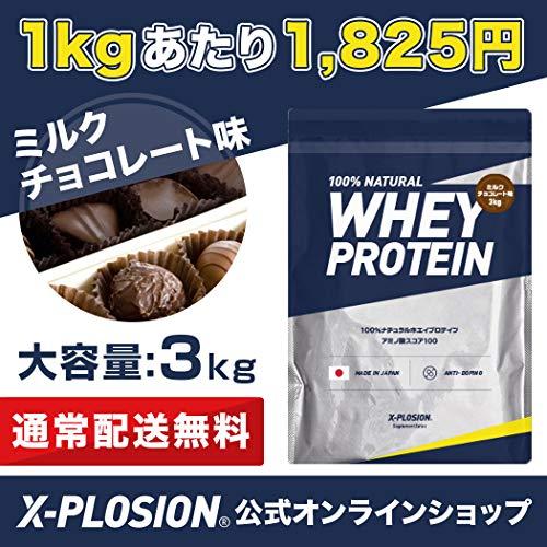 ホエイプロテインエクスプロージョン【3㎏(約100食分)/ミルクチョコレート味】大容量国産
