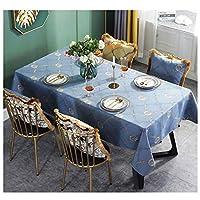 優雅 北欧風 耐熱 防水 防油 撥水加工 テーブルカバー テーブルマットオクスフォード生地 無地 防水加工 耐久 撥水 長方形 テーブルクロス また ピクニックテーブルクロスガーデンバーベキューブランチカフェレストラン食堂などとして屋外での使用に適しています (Color : Blue, Size : 130*220CM)