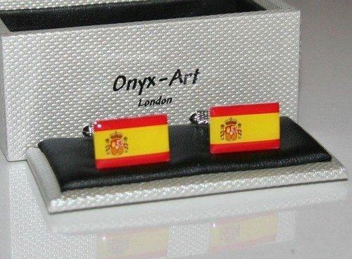 Boutons de manchette Homme Fantaisie – Espagnol Espagne drapeau Design * * * * * * * * NEUF * * * * * * * * Cadeau