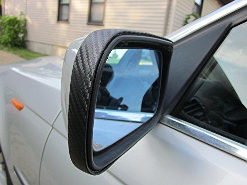 TRUE LINE Automotive 2 Piece Carbon Fiber Mirror Trim Molding Kit