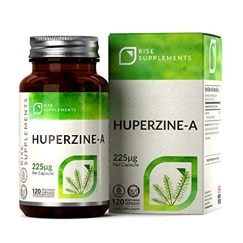 Huperzine A 225mcg by Rise Supplements (120 Vegan Capsules), HIGH Strength NOOTROPIC (4 Month Supply) | Non-GMO, Gluten & Dairy Free - Manufactured in ISO Licenced Facilities in The UK