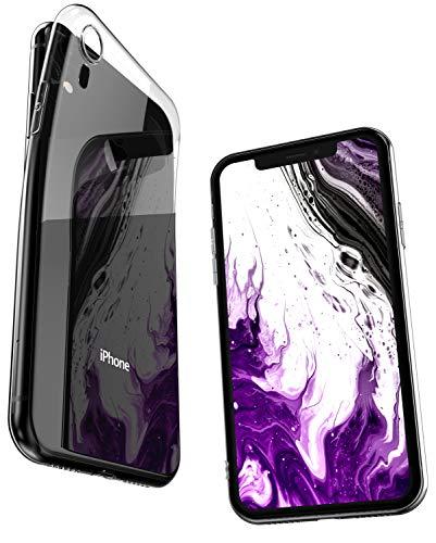 COVERbasics Cover Compatibile con iPhone XR (AIRGEL 0.3mm) Custodia Trasparente in Silicone Sottile con Protezione Fotocamera, Anti Ingiallimento ed Anti Graffio