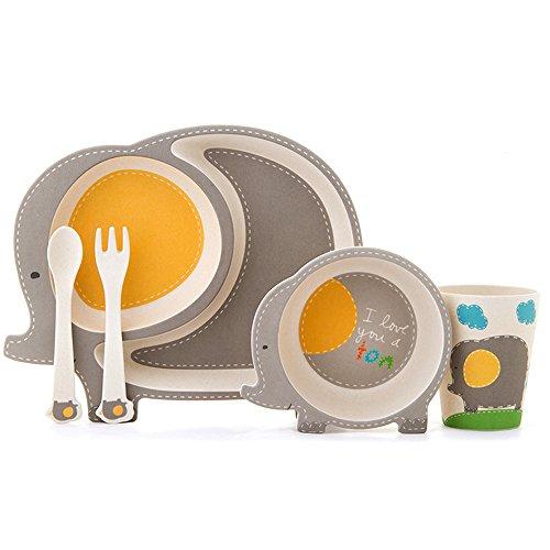 Motif de la jungle Petit-d/éjeuner Set Crocodile Ensemble Repas Contenant Pour enfants M/élamine Assiette Bol Vaisselle pour enfants pour gar/çons et filles