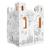 Easy Playhouse Sand Castle - Kids Art & Craft for Indoor & Outdoor Fun, Color, Draw, Doodle – Decorate & Personalize a Cardboard Fort, 32' X 32' X 43. 5' - Made in USA, Age 3+ [AMZ Exclusive]