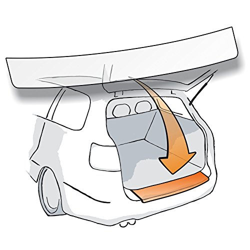Passform Lackschutzfolie als Selbstklebender Ladekantenschutz passgenau für VW Tiguan II (Typ AD1) (Autofolie und Schutzfolie) transparent 150µm