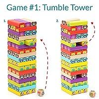 Nene Toys - Torre Magica Colorata in Legno con Animali – Gioco Educativo da Tavolo per Bambini - Gioco Didattico 4 in 1 per Bambini da 3 a 9 anni – Giocattolo Ideale come Regalo per Genitori e Figli #2