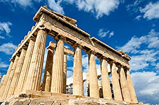 Home Comforts Iconic Parthenon Sky Greece Ruins Palace Building Vivid Imagery Laminated Poster Print 24 x 36