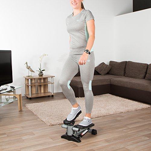 Ultrasport Vélo d'appartement ergomètre vélo de fitness, promotion de la santé et du fitness, vélo d'appartement parfait avec console, capteurs de pouls et 8 niveaux de résistance