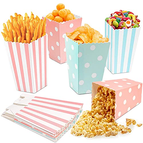 LOVEXIU Papiertüen,Popcorn Boxes 20pcs,Popcorn Tüten,Candy Bar Tüten,Popcorn Tüte Candy Container Für Party Snacks SüßIgkeiten Popcorn Plätzchen Und Weihnachten Party Geburtstag Hochzeit GeschenktüTe
