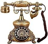 DFBGL Teléfono residencial Teléfono Vintage Teléfonos Retro Antiguos Teléfonos fijos con dial Giratorio Oficina (Color: Tocadiscos)