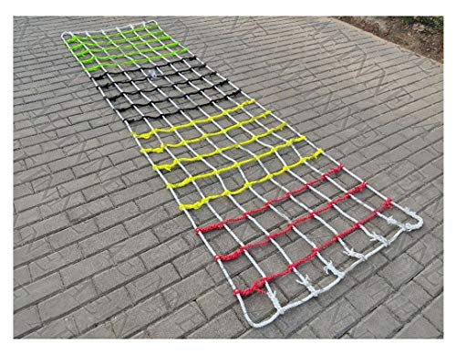 Find Bargain Cargo Netting Climbing,Cargo Net Climbing Rope Netting Playground Kids Outdoor Climb Swing Mesh Safety Heavy Duty Netting Fence Child Rock Climbing Ladder Wall Hammock,for Kids Alduts Swingset,16mm