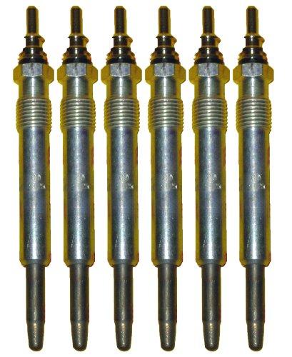 6 Piece Bosch OEM Glow Plug Set # 0250201054/80013 - Mercedes Benz # 0011592001/0011592101 (Replaces Bosch # 0250201038)