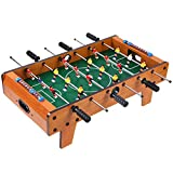 YLJJ La máquina de futbolín, la pequeña Mini máquina de Juegos de Mesa es Muy Adecuada para Salas de Juegos, centros comerciales, Bares, Fiestas, Noches Familiares, marrón, 50X25X12cm (3 kg)