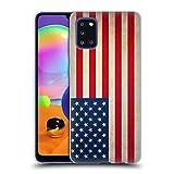 Head Case Designs Americano De Estados Unidos De América Banderas Vintage Carcasa de Gel de Silicona Compatible con Samsung Galaxy A31 (2020)