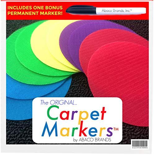 The Original Carpet Markers for Teachers (30 Pack Stars) (30 Pack Circles)