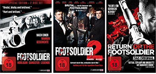 Footsoldier 1-3 (1+2+Return of the Footsoldier) - FSK 18 - im Set - Deutsche Originalware [4 DVDs]