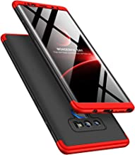 Winhoo Galaxy Note 9 Case, PC Hard Case 3 in 1 Ultra-Thin 360 Degree Full Body ProtectionCover for Samsung Galaxy Note 9(2018) (Red+Black+Red)