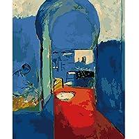 DIY 数字 油絵 塗り絵 キット 大人 子ども 塗り絵 家族 デジタル油絵 手塗り 数字キットによる絵画 絵かき インテリア 壁飾り ホームデコレーション 40x50cm(額縁なし)