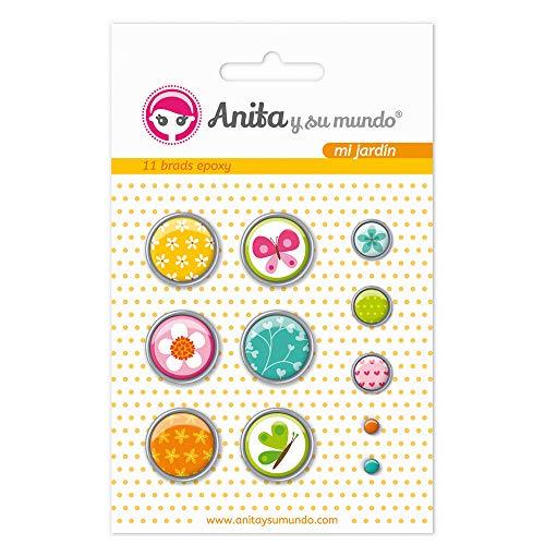 Anita y Su Mundo 37050118 - Pack 11 brads, diseño Epoxy mi jardín