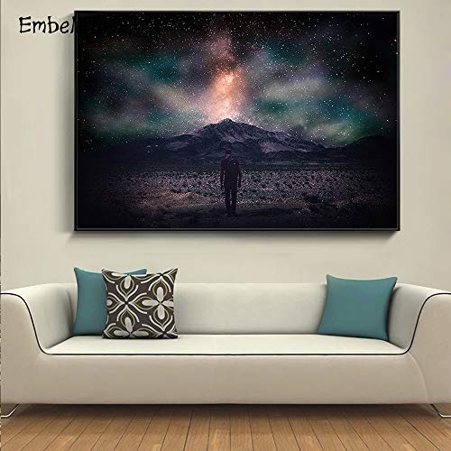 KWzEQ Canvas Painting aurora for posters andpictures artwork wall art decor for living room70x105cmFrameless painting