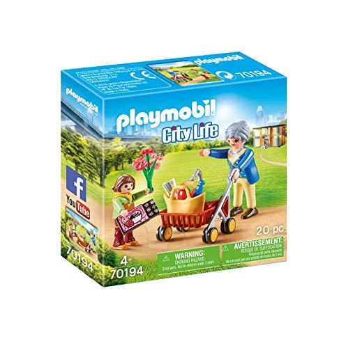 PLAYMOBIL City Life 70194 Oma mit Rollator, Ab 4 Jahren