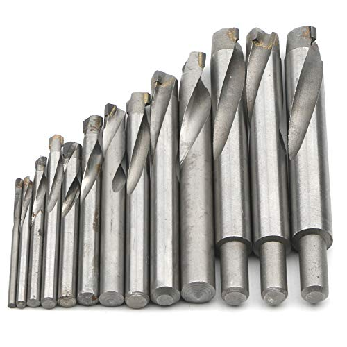 JIUWU 13pcs Tungsten Steel Cemented Carbide Twist Drill Bits, Metal Drill YG Alloy Blade, for Stainless Steel Copper Aluminum Zinc Alloy, 3 4 5 6 7 8 9 10 11 12 13.5 14 15mm