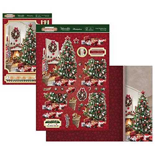 Hunkydory Stepping Into Christmas Designer Deco-Large Set- Cosy Christmas Tree STEPDEC902