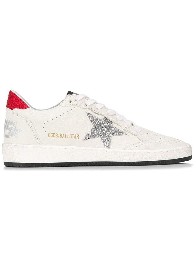 踊り子失特異な[GOLDEN GOOSE] レディース G34ws592p9 ホワイト 革 運動靴