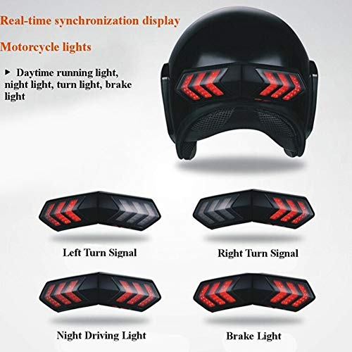 RONSHIN Motorcycle Helmet Light Real-time Sync with Brake Lights and Turn Signal Lights