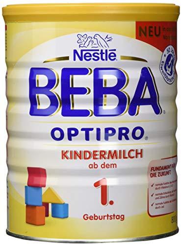 Nestlé BEBA Junior ab dem 1. Geburtstag, für eine altersgerechte Ernährung, Milchgetränk mit den Vitaminen A, C & D, 1er Pack, 1 x 800 g