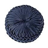 Qingge Cojín redondo de terciopelo plisado para sofá, sofá,...