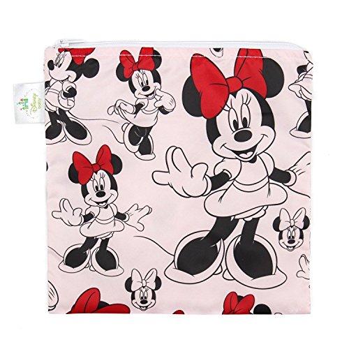 Bumkins Disney Sac à déjeuner réutilisables pour bébé Grande, Minnie Classic, L