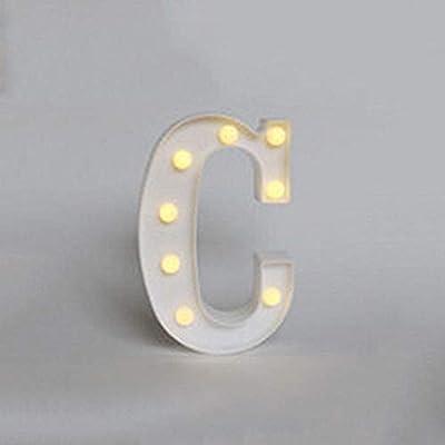 LED Luz de Letra Alfabeto Iluminación Lámpara de Placas Señales Vendi Jardín