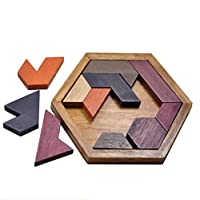 木製 タングラム パズル 子供 教育玩具