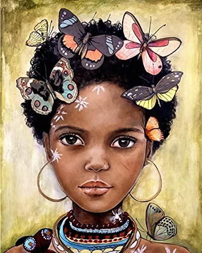 5000 Piezas Rompecabezas para niños Adultos, Mariposa Africana Chica Grueso de cartón de dificultad Media Rompecabezas de 157x106cm
