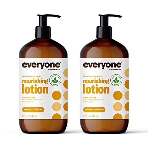 Everyone Lotion: Coconut and Lemon 32 Ounce 2 Count