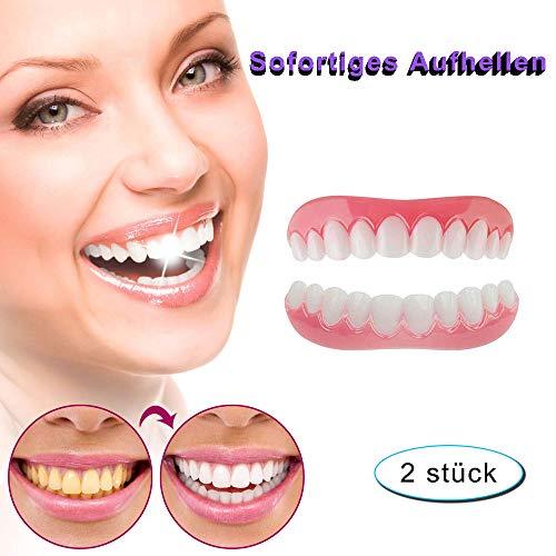 Zahnersatz Provisorischer Veneers Kosmetische Zähne für Sofortiges Lächeln Extra Dünn Provisorischer Zahnprothese Oben und Unten Einfache Abnutzung