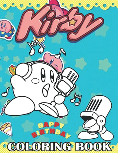 Kirby Coloring Book: +25 Amazing Kirby Coloring pages for Kids,+25 Wonderful Drawings - All Characters ( Original Design )