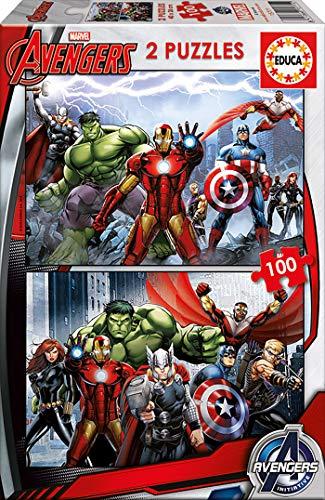 Educa- Avengers Los Vengadores 2 Puzzles de 100 Piezas, Multicolor (15771)