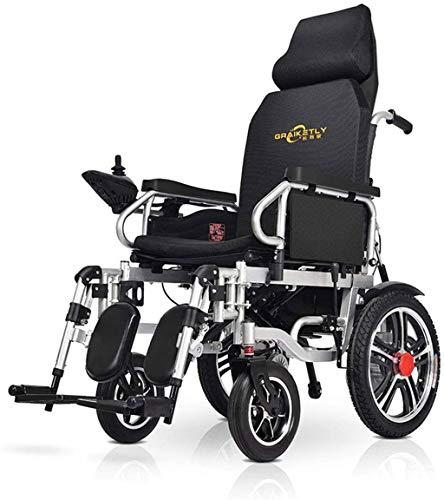 Potere sedia a rotelle Completamente Sdraiato leggero elettrico pieghevole sedia a rotelle for adulti compatto Transit Chair Viaggi 250w 2 dual motore 20Ah litio della batteria fino a 21 miglia di gam