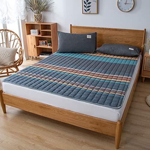 MYYU Tatami Plegable Colchón,Japonés Suelo Futón Colchón,Plegable Soft Funda De Moquetas Colchón Sleeping Pad Transpirable,Cama Mat,1,150 * 200cm