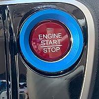 レヴォーグ エンジンスターター リング エンジンスタート ボタン プッシュボタン スイッチカバー アルミ ブルー スバル