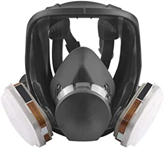 zinnor Full Face Respirator Organic Vapor Gas mask with Activated Carbon Respirator for Paint, Dust, Chemical