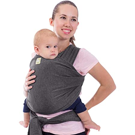 Baby Wrap Carrier - All in 1 Stretchy Baby Sling - Baby Carrier Sling - Baby Carrier Wraps - Baby Carriers for Newborn, Infant - Baby Holder Straps - Baby Slings - Baby Sling Wrap (Mystic Gray)