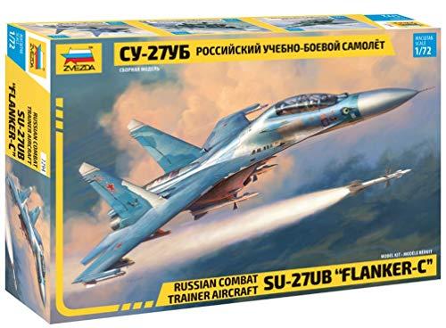 ZVEZDA 500787294 - 1:72 Sukhoi SU-27 UB Flanker-C, Modellbau, Bausatz, Standmodellbau, Hobby, Basteln, Plastikbausatz