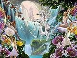 Puzzle 1000 Piezas Puzzle Elfos y Unicornios Puzzle de Madera de 1000 Piezas Juguetes educativos de Entretenimiento Familiar para Adultos y niños 75cm*50cm JuZi