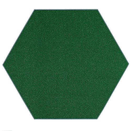 Outdoor Artificial Turf Green Area Rugs with Premium Non Skid Backing Great for Decks, Patio's & Gazebo's to Pools, Docks & Boats and Other Outdoor Recreational Purposes 12' Hexagon