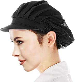 Adjustable Chef Cap Cooking Hat Food Service Hair Nets Mesh Brim Kitchen Net Reusable Restaurant Bouffant