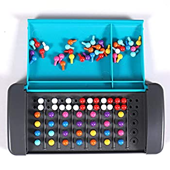 Montessori Mastermind Game Mini Code Breaking Board Game Portable Travel Code Breaker Game Funny Intelligent Educational Interactive Toys for Kids