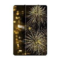 Sepikey iPad 10.2 2019/iPad 保護カバー, 防塵 三つ折りブラケット PUレザー&PC 耐摩耗性 傷防止 三段角度調節 シェル iPad 10.2 2019/iPad Case-花火2